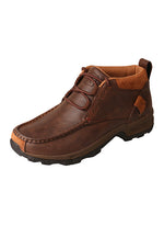 Twisted X Women's Brown Leather Hiker Driving Moccasin Shoes WHK0001