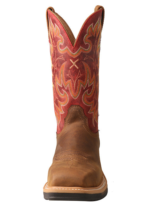 Twisted X Women's Lite Cowboy Saddle & Red Composite Toe Work Boots WLCCW01 - Painted Cowgirl Western Store