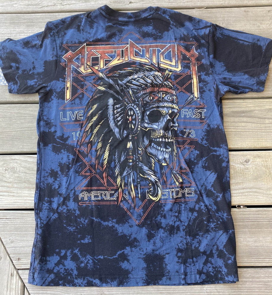 Affliction Men's Native Trail Black Short Sleeve Tee A22824