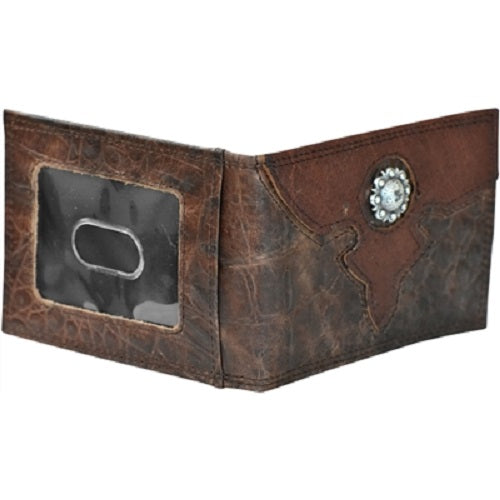 Roper Brown Leather Croc Print Concho Money Clip 8041000 - Painted Cowgirl Western Store
