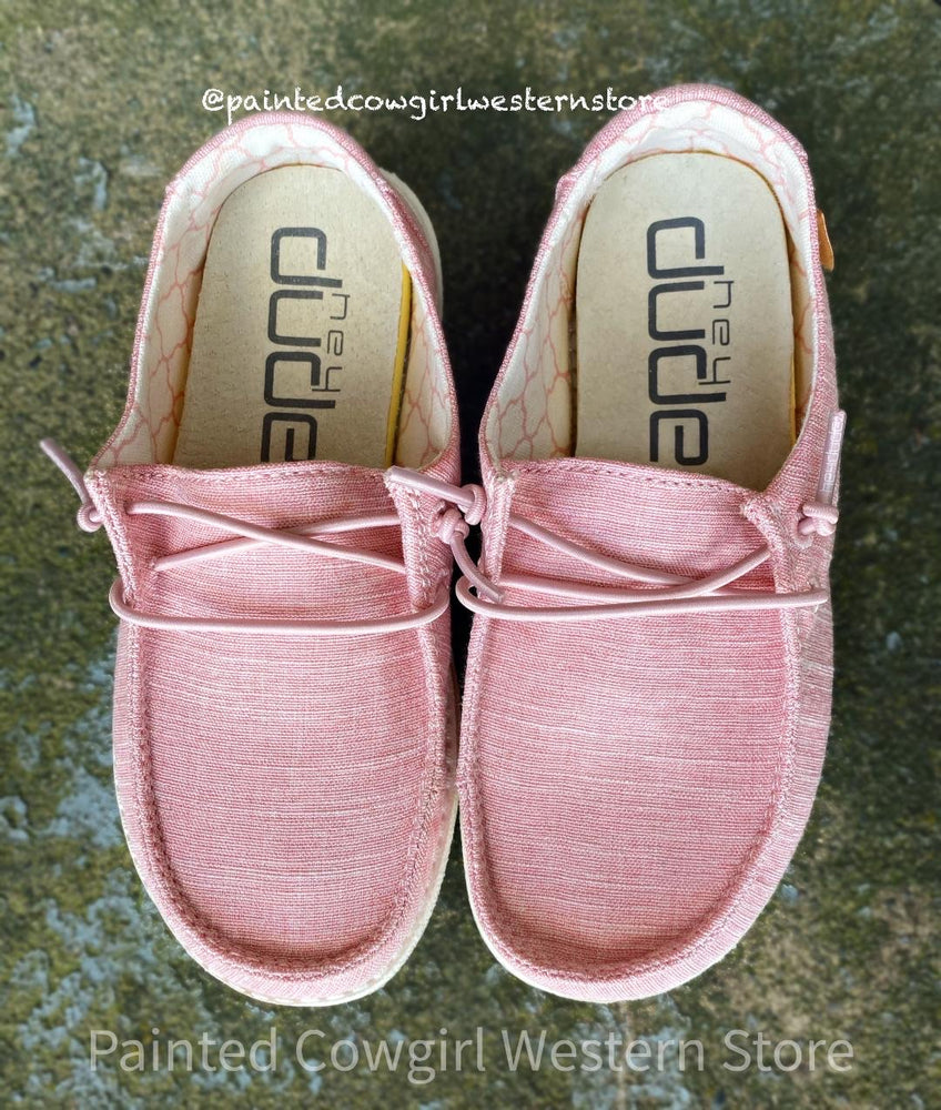 Hey Dude Youth Wendy Cotton Candy Pink Casual Shoes