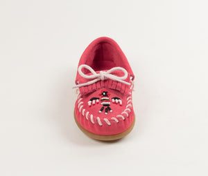 Minnetonka Children's Pink Leather Thunderbird II Moccasin 2605 - Painted Cowgirl Western Store