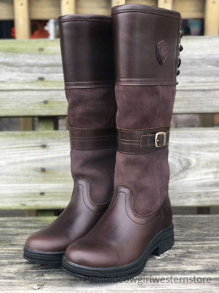 Ariat Women's Langdale Waxed Chocolate Waterproof Tall Boots 10034028
