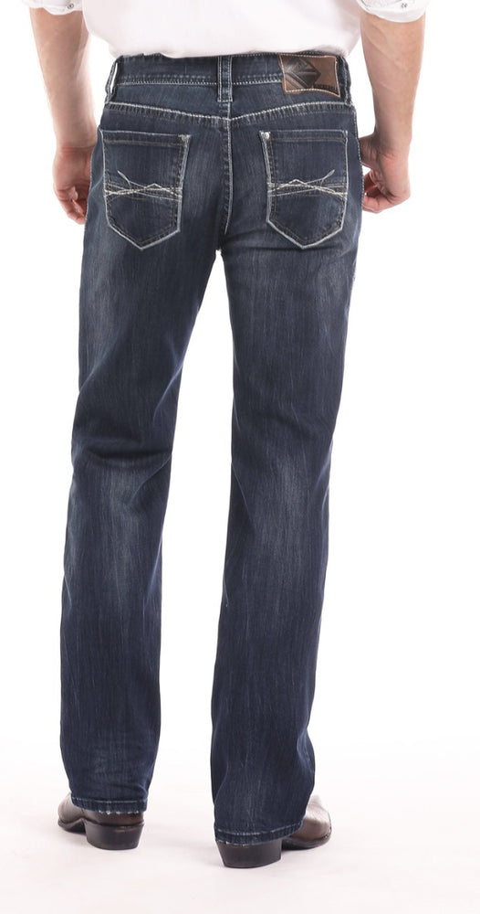Load image into Gallery viewer, Rock & Roll Cowboy Men's Double Barrel Reflex Relaxed Straight Leg Jeans M0S7387
