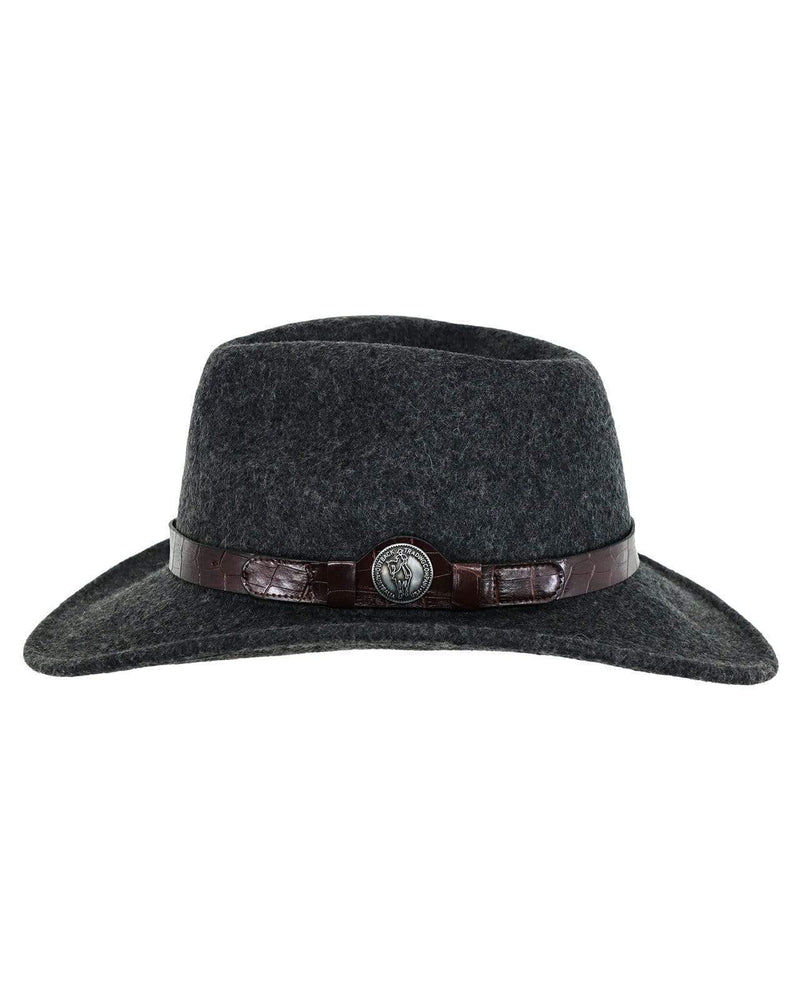 Collingsworth Grey Crushable Wool Western Hat 1305