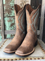 Ariat Women's Primetime Tack Room Distressed Brown Square Toe Boots 10034163