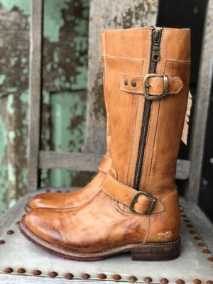 Load image into Gallery viewer, Bed Stu Women's Gogo Lug Tan Rustic Tall Boots F315405