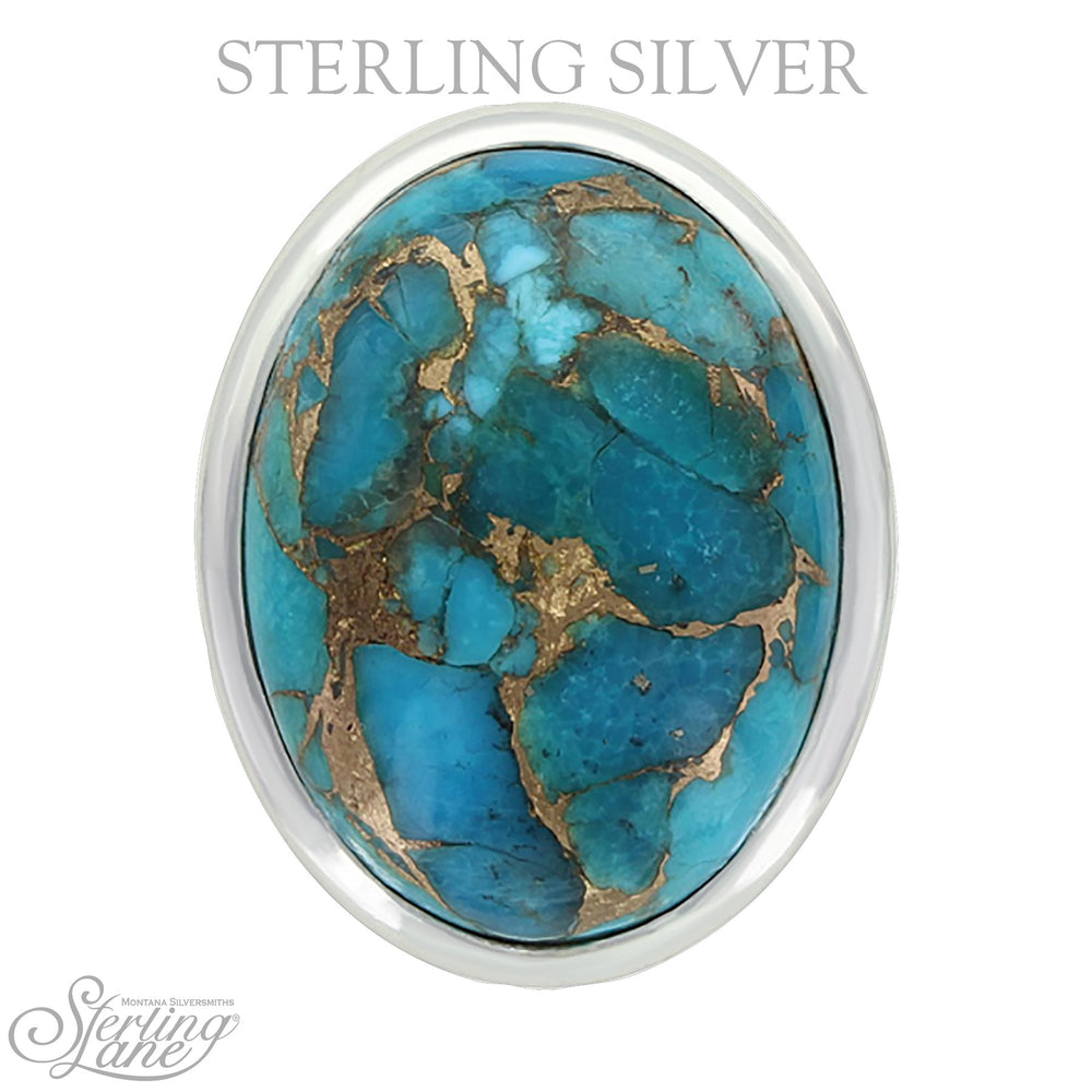Montana Silversmiths Sterling Lane Sun Dance Turquoise Ring SLRG018 - Painted Cowgirl Western Store