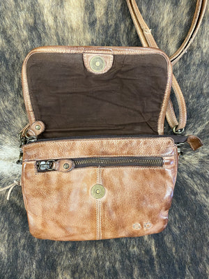 Load image into Gallery viewer, Bed Stu Ziggy Tan Rustic Crossbody Purse A694440