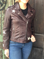 Mauritius Women's Cathleen Raisin Star Leather Leather Jacket