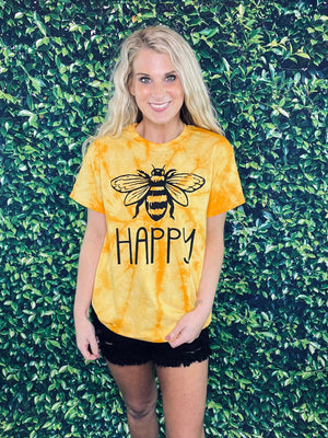 Bumble Bee Happy Tie Dye Tee (S-3XL)