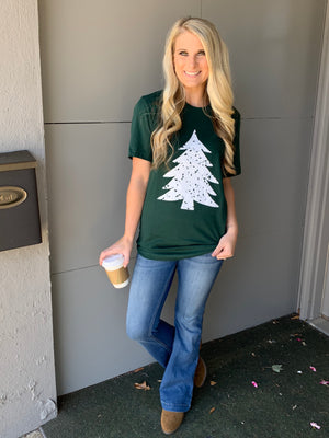 Distressed Tree Tee - The Sassy Owl Boutique