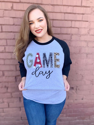 Game Day Raglan - The Sassy Owl Boutique
