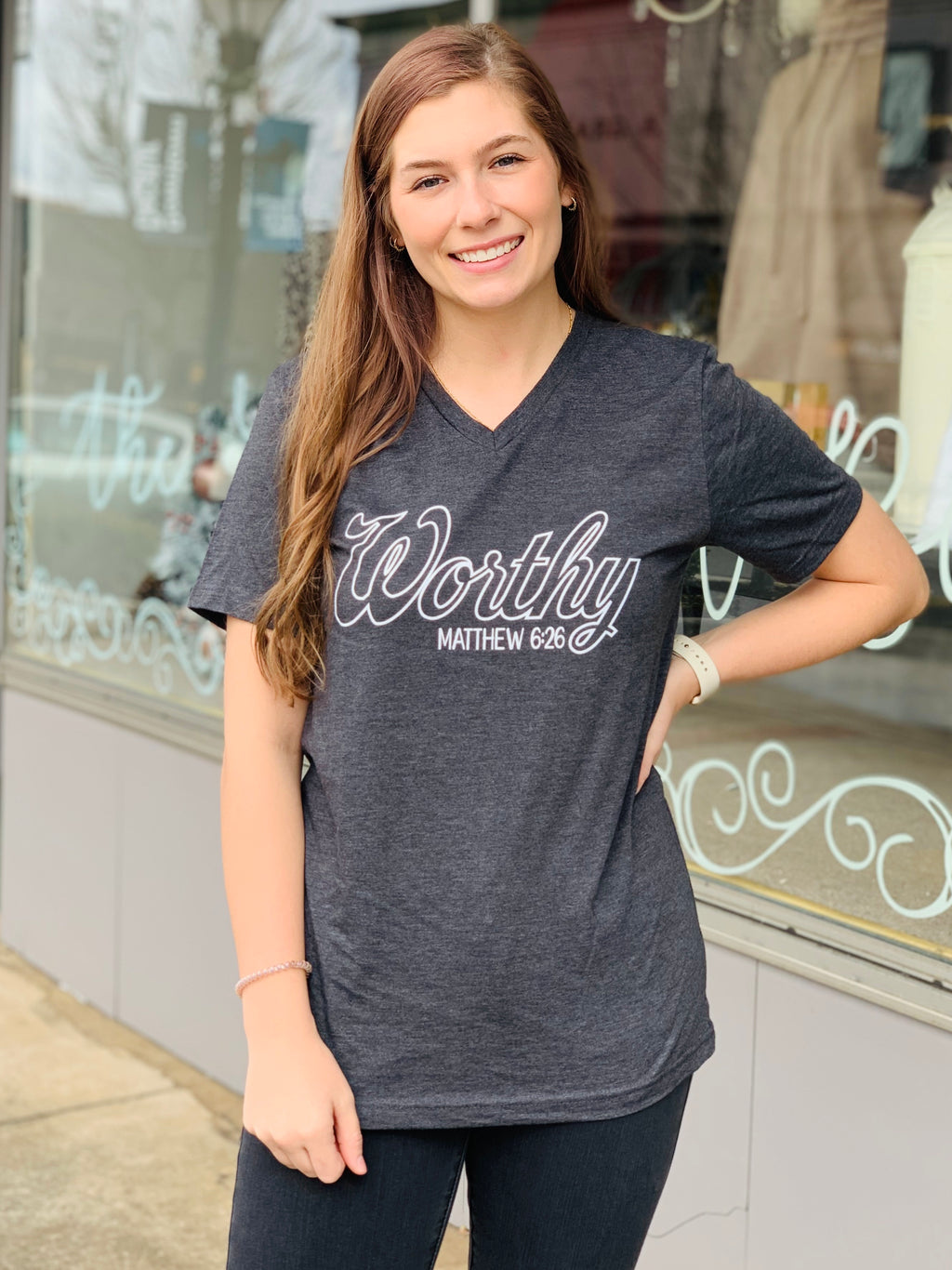 Worthy V-Neck Tee (S-2XL)