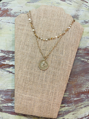 Gold Coin Chain Necklace