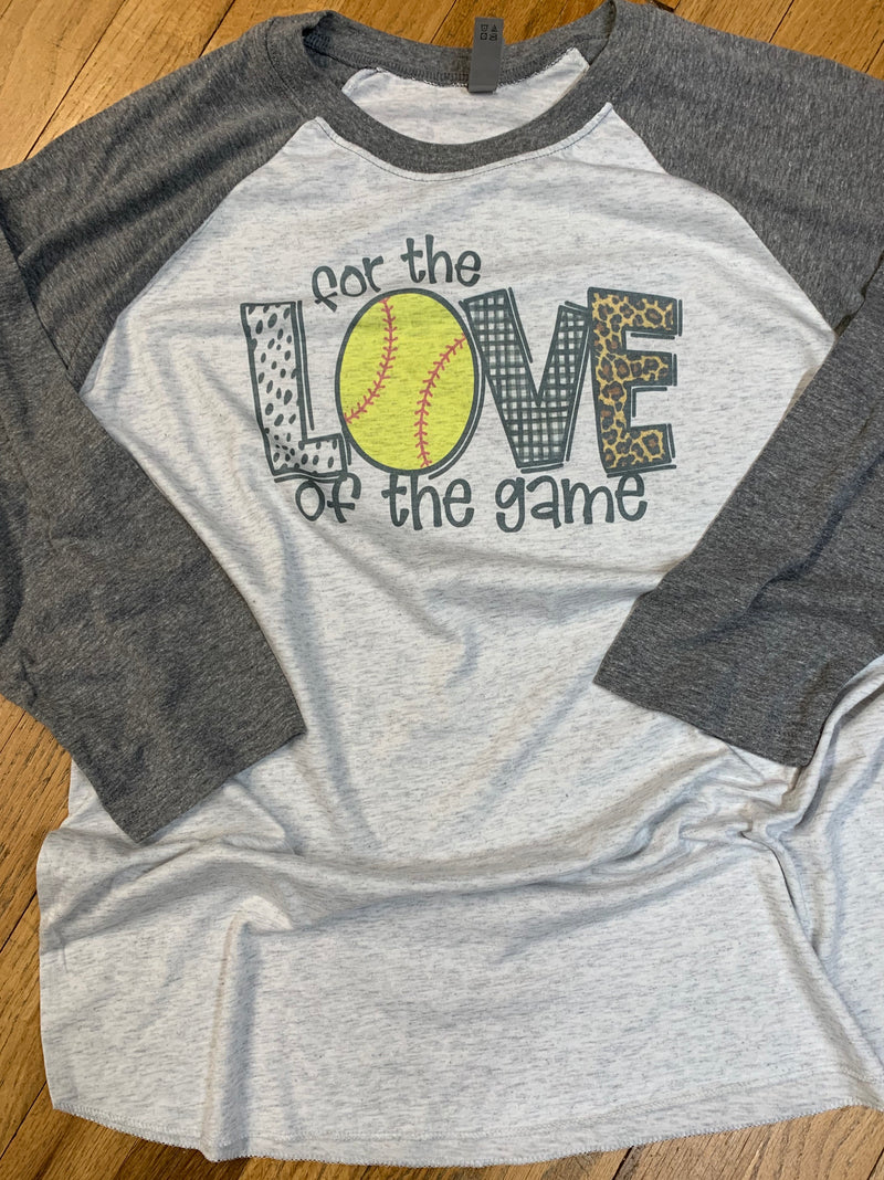 For The Love Of The Game Raglan - The Sassy Owl Boutique