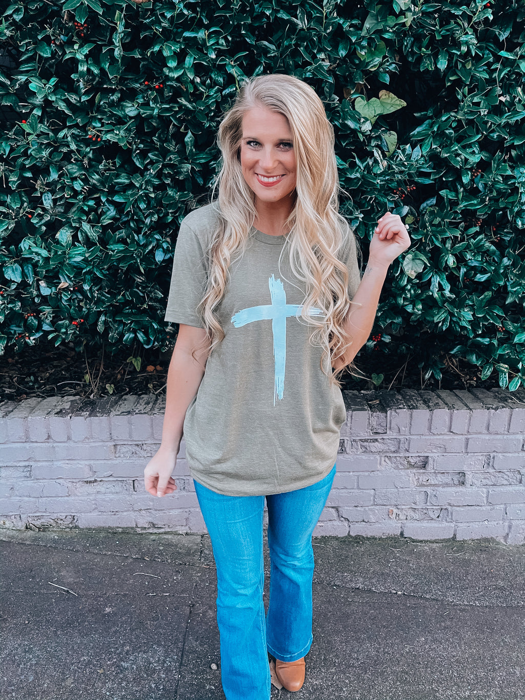 Brushed Cross Tee (S-XL)