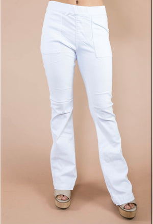 If I Could Escape White Flare Jeans (S-XL)
