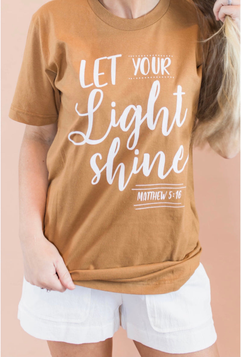 Let Your Light Shine Tee (S-2X)