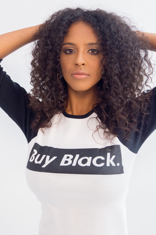 Original Buy Black 3/4 Sleeve T-Shirt