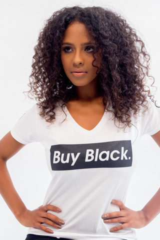 Original Buy Black V-Neck T-Shirt