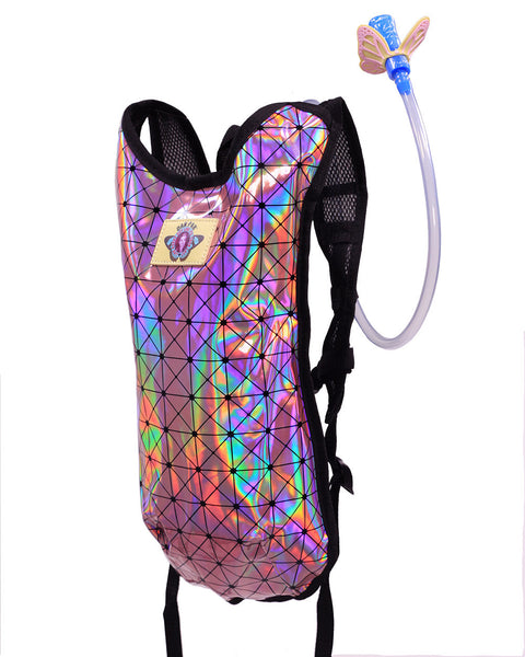 Holographic Baby Pink Hydration Backpack Dan Pak Water