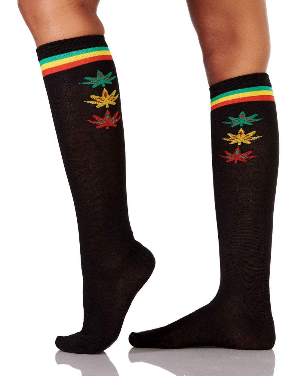ce4ff0500d7515 Cannabis Queen Knee High Socks - EDM Sauce