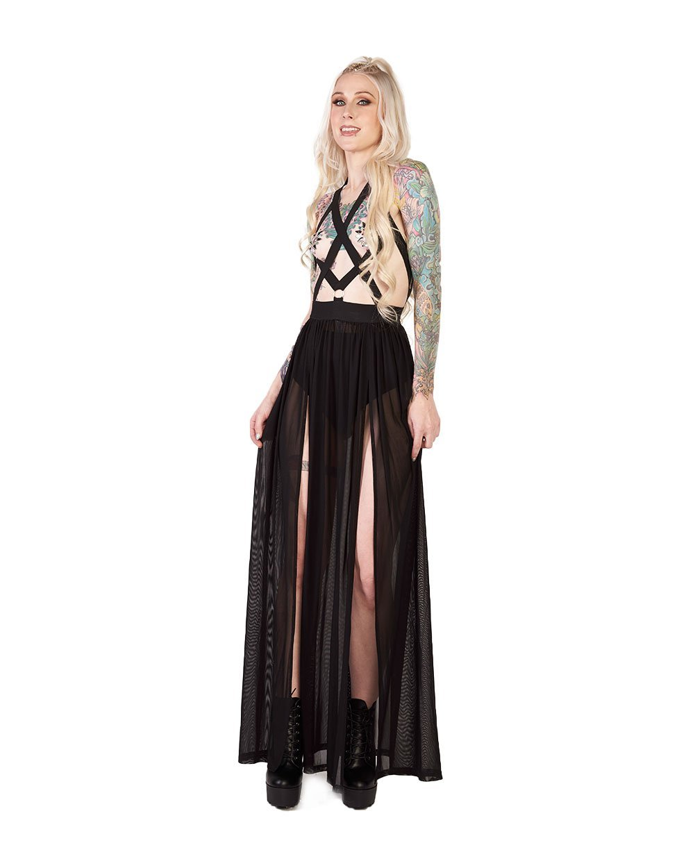 e059973bad Eyes Wide Shut Bondage Maxi Dress - EDM Sauce