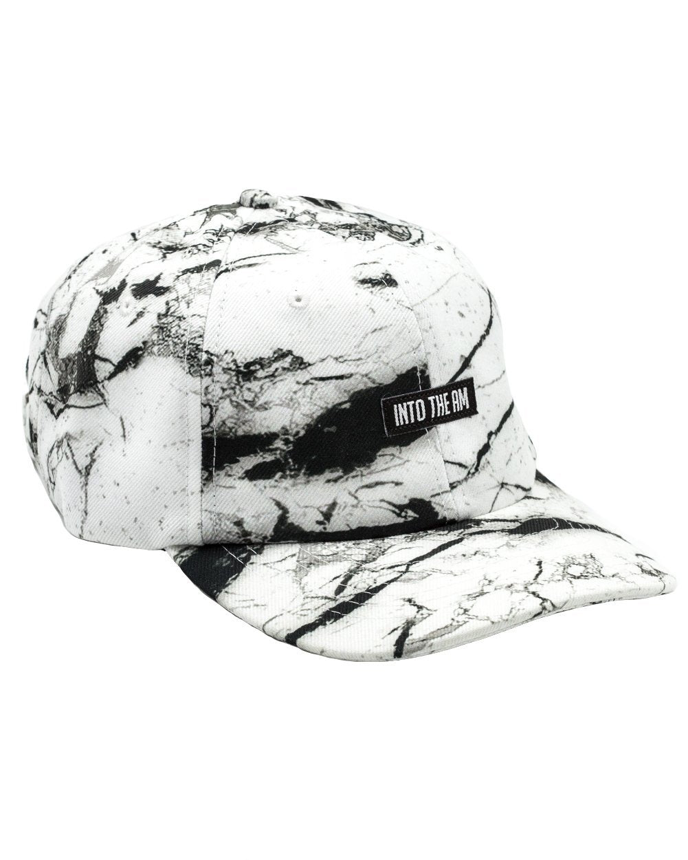 f23f5f7b56a White Marble Dad Hat-Front  White Marble Dad Hat-Side ...