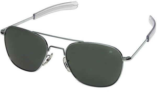 American Optical Silver Aviator Sunglasses