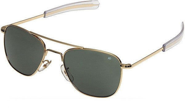 American Optical Gold Aviator Sunglasses