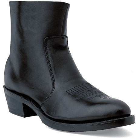 Durango Black Leather Side Zip Western Boot