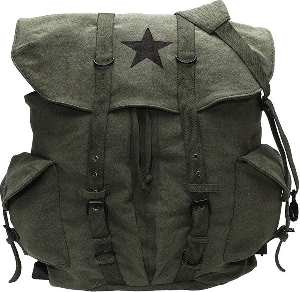 Rothco Olive Drab Vintage Star Backpack
