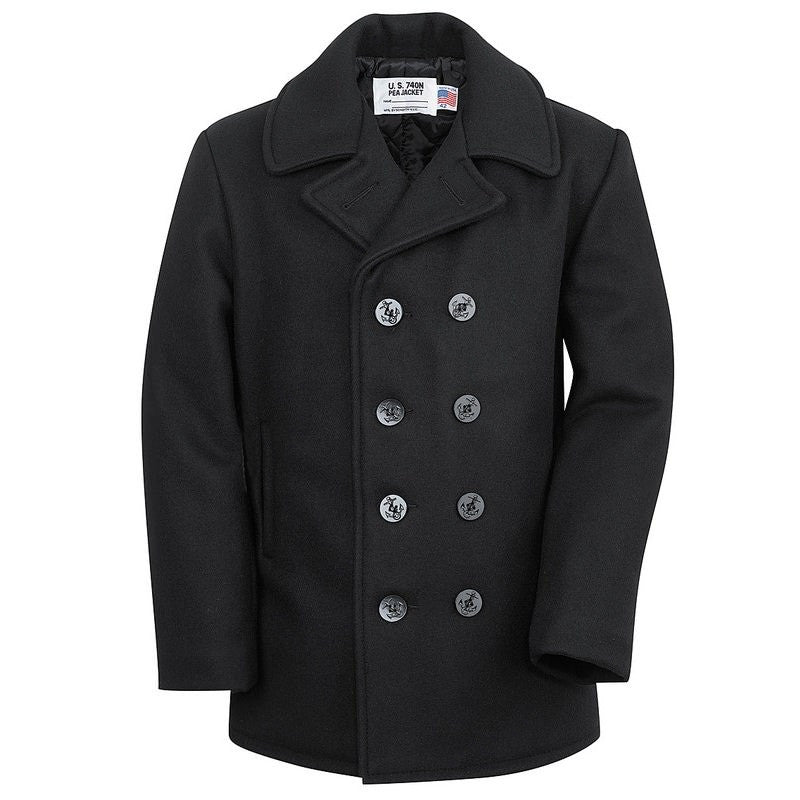 Schott Melton Wool Naval Pea Coat 740