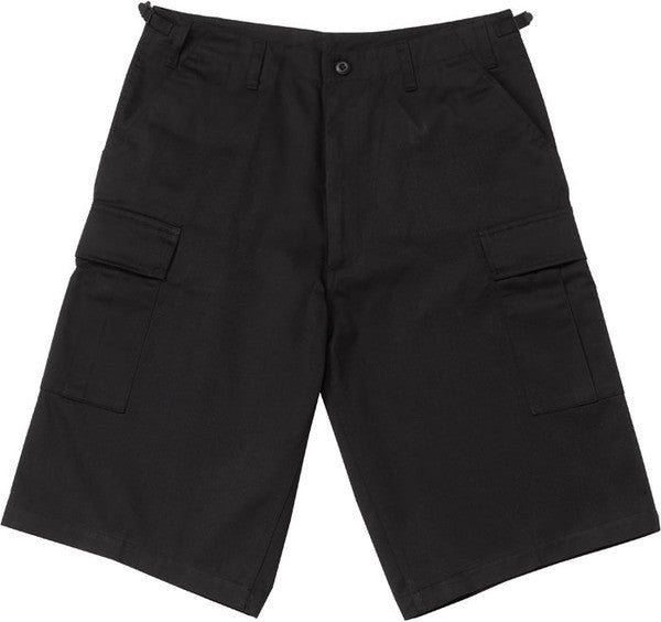 Rothco Black Longer BDU Shorts