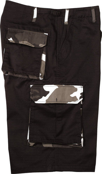 Rothco Black With City Camouflage Accents Shorts