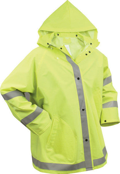 Rothco Safety Green Reflective Rain Jacket