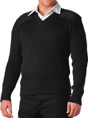 Rothco Black V-Neck Sweater
