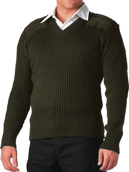 Rothco Olive V-Neck Sweater