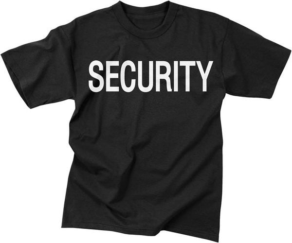 Mashern Black Security  Double-Sided T-Shirt