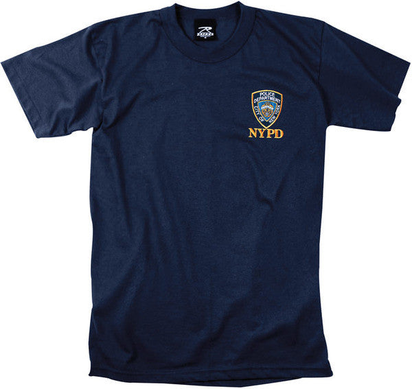 Rothco NYPD Embroidered Navy Blue T-Shirt
