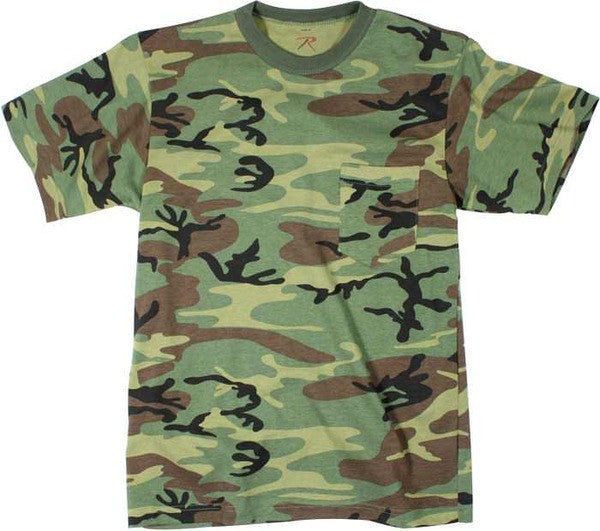 Rothco Woodland Camouflage Pocket T-Shirt