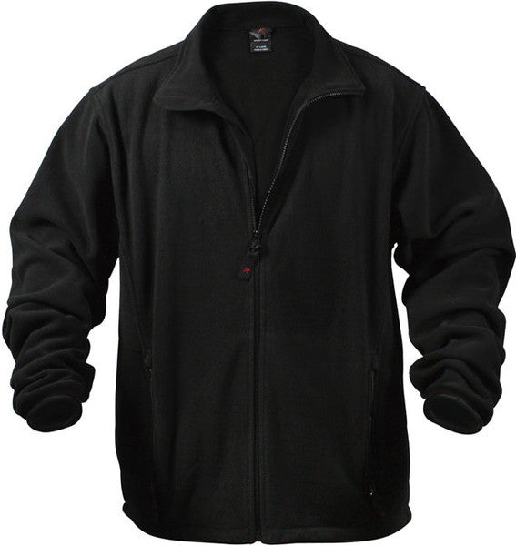 Rothco Black Polar Fleece Jacket