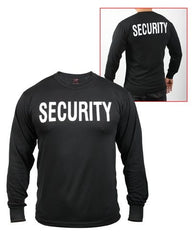 Rothco Black Security Long Sleeve Tee