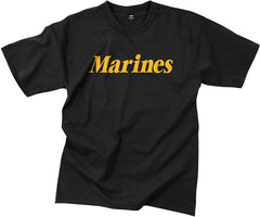 Rothco Black Marines T-Shirt