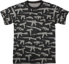 Rothco Black Guns & Rifle T-Shirt