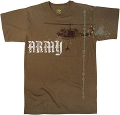 Mashern Army Helicopter Brown Tee