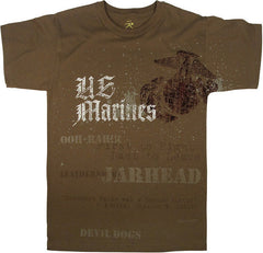 Rothco Brown U.S. Marines Globe & Anchor T-Shirt