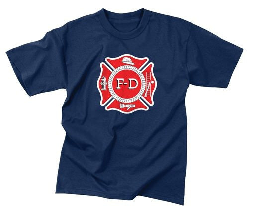 Rothco Navy Blue Fire Dept T-Shirt
