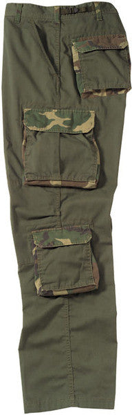 Rothco Olive Drab With Woodland Camouflage Accent Fatigues
